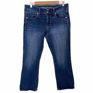 American Eagle Artist Crop Dark Wash Denim Jeans